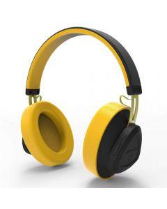 Casti Wireless Bluedio TM Stereo, Bluetooth, Anularea zgomotului, Handsfree, Microfon, Conectare multipla, Control Vocal, Galben