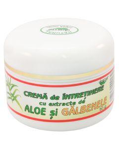 Crema de intretinere cu extracte de aloe si galbenele , 50 grame - ABEMAR