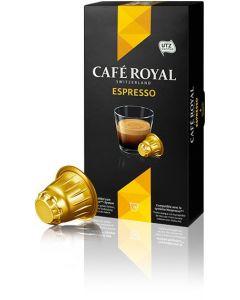 Capsule Cafe Royal Espresso, compatibil Nespresso, 10 capsule, 53 grame