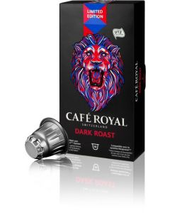 Capsule Cafe Royal Dark Roast, compatibil Nespresso, 10 capsule, 53 grame