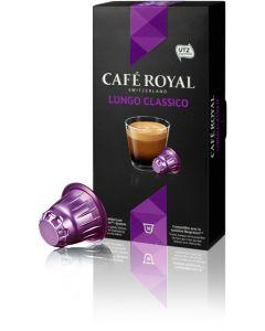 Capsule Cafe Royal Lungo Classico, compatibil Nespresso, 10 capsule, 53 grame