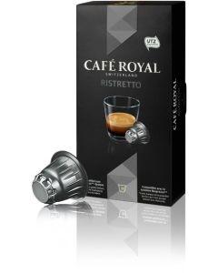 Capsule Cafe Royal Ristretto, compatibil Nespresso, 10 capsule, 53 grame