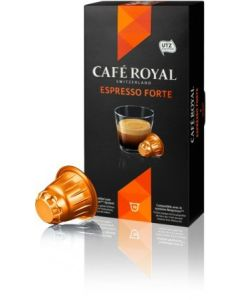 Capsule Cafe Royal Espresso Forte, compatibil Nespresso, 10 capsule, 53 grame
