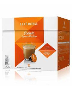 Capsule Cafe Royal Cortado compatibile Dolce Gusto, 16 capsule