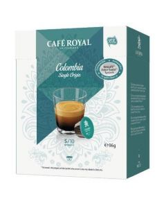 Capsule Cafe Royal Colombia Single Origin compatibile Dolce Gusto, 16 capsule