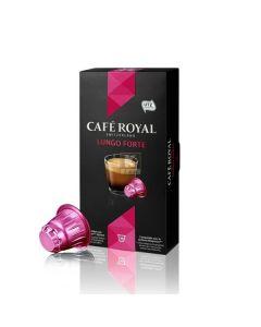Capsule Cafe Royal Lungo Forte, compatibil Nespresso, 10 capsule, 53 grame