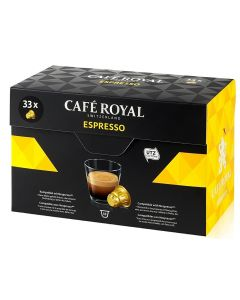 Capsule Cafe Royal Espresso, 33 capsule, compatibile Nespresso
