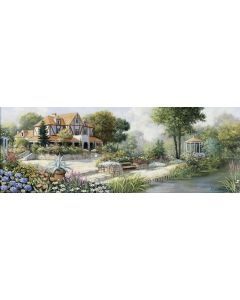 Puzzle panoramic Art Puzzle - Peter Motz: English Cottage, 1.000 piese (Art-Puzzle-4333)