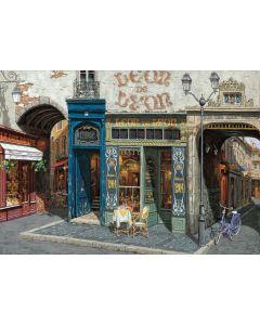 Puzzle din lemn Art Puzzle - Viktor Shvaiko: Cafe Leon, 1.000 piese (Art-Puzzle-4438)