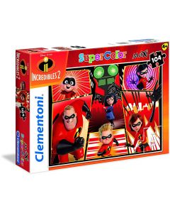 Puzzle Clementoni - The Incredibles 2, 104 piese XXL (23723)