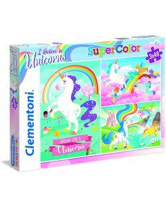 Puzzle Clementoni - I Believe in Unicorns, 3x48 piese (25231)