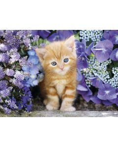Puzzle Clementoni - Cat in Flowers, 500 piese (50570)
