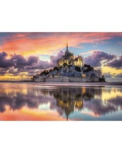 Puzzle Clementoni - Mont Saint-Michel, France, 1.000 piese (39367)