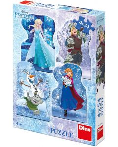 Puzzle Dino - Frozen, 4x54 piese (62880)