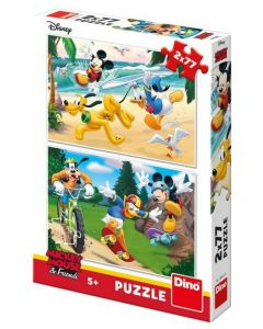 Puzzle Dino - Mickey, 2x77 piese (62902)