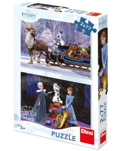 Puzzle Dino - Frozen, 2x77 piese (62903)