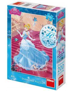 Puzzle Dino - Diamond Puzzle - Disney Princess, 200 piese (62916)