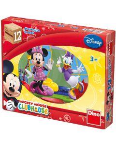 Puzzle cuburi din lemn Dino - Mickey, 12 piese (63016)