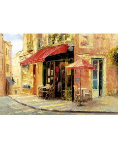 Puzzle Educa - Hillside Cafe, Haixa Liu, 1500 piese, include lipici puzzle (17123)