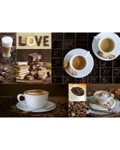 Puzzle Educa - Coffee, 1000 piese, include lipici puzzle (17663)