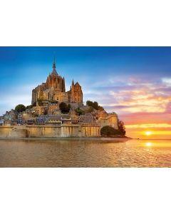 Puzzle Educa - Mont Saint Michel, France, 1000 piese, include lipici puzzle (17665)