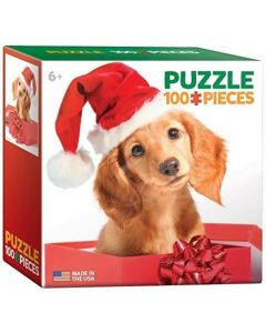 Puzzle Eurographics - Holiday Puppy, 100 piese mini (8104-0670)