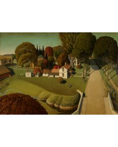 Puzzle Grafika - Grant Wood: Birthplace of Herbert Hoover - West Bran, 1.000 piese (45894)