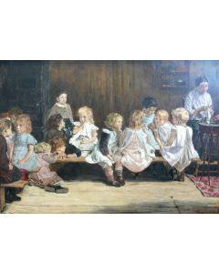 Puzzle Grafika - Max Liebermann: Ecole Maternelle a Amsterdam, 1880, 1.000 piese (46147)