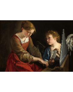 Puzzle Grafika - Orazio Gentileschi: Saint Cecilia and an Angel, 1617/1618, 1.000 piese (56260)