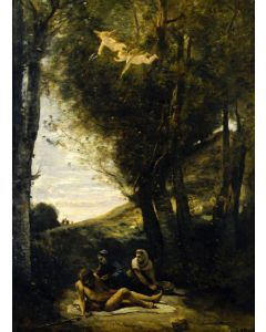 Puzzle Grafika - Jean-Baptiste Camille Corot: Saint Sebastian Succored by the Holy Women, 1874, 300 piese (56492)