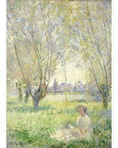 Puzzle magnetic Grafika Kids - Claude Monet: Woman Seated under the Willows, 1880, 24 piese (55193)