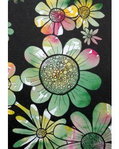 Puzzle Grafika Kids - Doodle Flowers, 100 piese (57294)