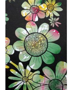 Puzzle Grafika Kids - Doodle Flowers, 12 piese XXL (57296)