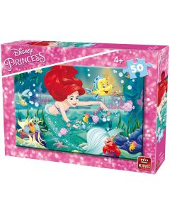 Puzzle King - Disney Princess, 50 piese (king-Puzzle-05317-A)
