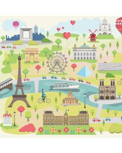Puzzle din lemn Michele Wilson - Collection Paris: Illustrated Paris, 30 piese dificile (43673)