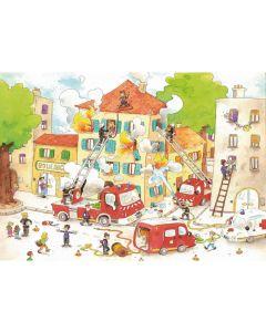 Puzzle din lemn Michele Wilson - Daniel Cacouault: The Firemen, 50 piese dificile (4866)