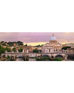 Puzzle panoramic Ravensburger - Roma, 1.000 piese (15063)