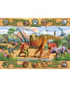 Puzzle Ravensburger - Dinozauri, 100 piese (10609)