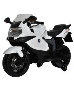 Motocicleta electrica Globo BMW K130S cu sunete si lumini pentru copii, alba