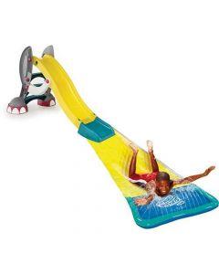 Tobogan Elefant pentru copii, Paradiso Toys, cu extensie apa pentru alunecare, folosire in interior sau exterior, din plastic, cu sistem de apa