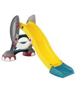 Tobogan Elefant pentru copii, Paradiso Toys, folosire in interior sau exterior, din plastic, cu sistem de apa