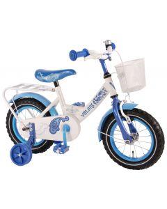 Bicicleta Volare pentru fete, 12 inch, cu roti ajutatoare, 95% asamblata, Paisley