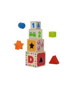 Joc educational Globo cu cuburi stivuibile