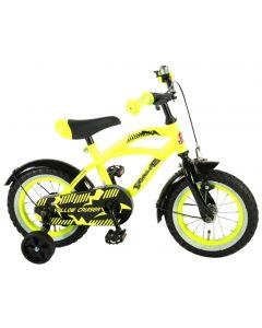 Bicicleta copii Volare Cruiser, pentru baieti, 12 inch, cu roti ajutatoare, 85% asamblata, Galben