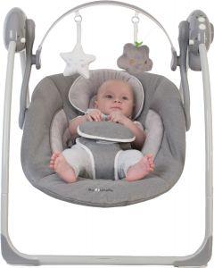 Leagan portabil BO Jungle Gri pentru bebelusi cu arcada jucarii