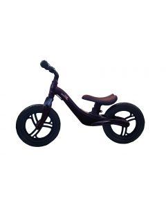 Bicicleta fara pedale Skillmax, 12 inch, pentru copii, Neagra, foarte usoara, 2 kg, inaltime reglabila, roti EVA, cadru magneziu