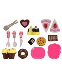 Set prajituri Globo cu accesorii, din plastic, cu velcro