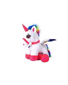 Jucarie plus Globo, unicorn din plus, 44 cm, Roz