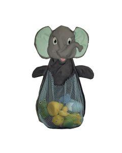 Plasa in forma de elefant BO Jungle pentru depozitare jucarii de baie, cu ventuze
