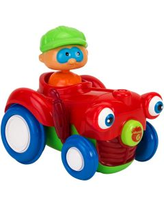 Jucarie bebelusi Vitamina G, Tractor cu figurina, Lumini si sunete